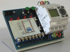 The Easylearn PLC Trainer is a complete learning system for control systems, including a Easy or LOGO! mini PLC.